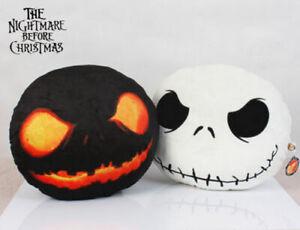 2pcs The Nightmare Before Christmas Jack Skellington + Evil Jack Plush Pillow