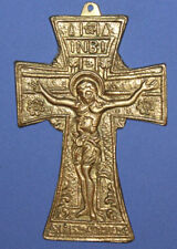 New listing Vintage Hand Made Brass Cross Crucifix