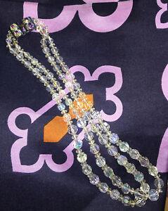 Beautiful Aurora Borealis Double Strand Necklace
