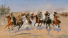 A Dash for the timber Frederic remington indiens chevaux cavaliers combat B a3 01941