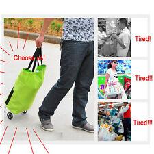 2016 Green Shopping Trolley Bag With Wheels Portable Foldable  Shopping Bag Cart