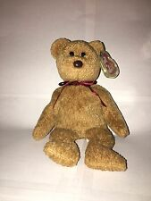 """CURLY"" BEAR Original TY BEANIE BABY 1993 RARE  NEW Old Stock"