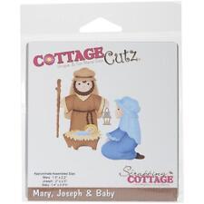 cottagecutz CC055 Mary/Joseph/Baby Jesus carta gomma crepla sizzix big shot