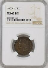 1835 Classic Head Half Cent - C2 - NGC MS 62 - Gorgeous Mint Luster