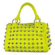 Topmode Handtasche Neongelb mit Nieten - neon gelb