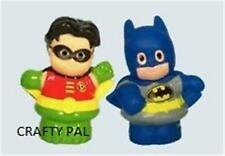 NEW Fisher Price LITTLE PEOPLE DC SUPER HEROES BATMAN AND ROBIN FRIENDS