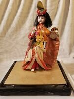 Vintage Japanese Geisha 13 Inch Elaborate MASTERPIECE 12 in wide base