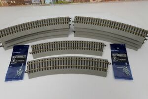 Lot Of 10 American Flyer S Gauge No.6-49853 R20 Fast Track Curve Track Sections