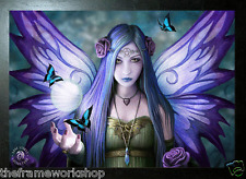 ANNE STOKES BLACK FRAMED FAIRY MYSTIC AURA - 3D PICTURE 465mm x 365mm