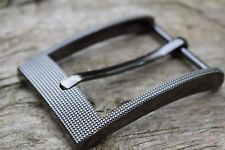 "Metal Belt Buckle TO FIT 35mm 1 3/8""  BELT silver / gun metal colour nickel W"