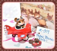 ❤️Wee Forest Folk M-309 Pedal Plane RED 4th of July Special Mouse Retired❤️