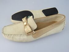 COLE HAAN Tan Beige Suede Leather Driving Loafers Flats Shoes Women's 8 B Medium
