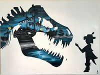 PRINT Treasure Paintings JR Bissell: Dare to DREAM T-Rex Painting Pirate Artist