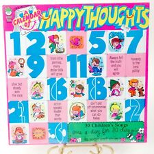 A Calendar Of Happy Thoughts LP Peter Pan Records 8229 30 Children Songs Vintage