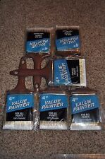 "NEW! Lot of 6 Rubberset Value Painter 4"" Paint/Stain Brushes"