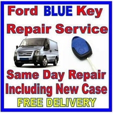 Ford Transit BLUE Key Repair  Including New Case   * Over 180 SOLD * 100% F,Back