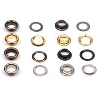 Metall 100 Kleider Ösen Kits mit Unterlegscheibe Leder Reparatur Tülle 3.5-14mm