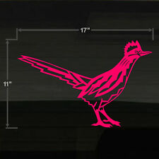 "Roadrunner Road Runner New Mexico Bird Large 17x11"" HOT PINK Decal Sticker"