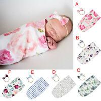 Newborn Baby Blanket Swaddle Printed Sleeping Bag Sleep Sack Stroller Wrap