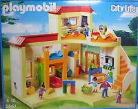 PLAYMOBIL 5567 Kita Kindergärtnerin 4 Kinder Spielsachen Küche Uhr WC Tafel NEU