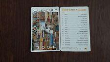 Calendario de publicidad asociación de pintores con la boca y el pie año 2001