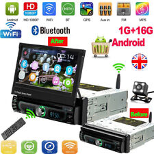"Android 8.0 7"" 1 DIN Car Radio Stereo DVD GPS NAVI Single Bluetooth MP5 + Camera"