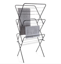 Folding Clothes Horse Airer Drying Rack Laundry Dryer Concertina Indoor Outdoor
