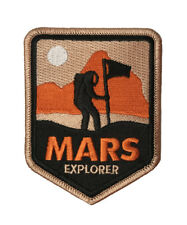 Mars Explorer Embroidered Iron On / Sew On Patch Appliqué NASA Space Craft