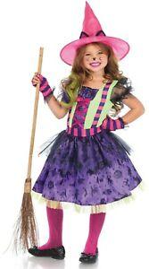 Girl Black Cat Witch Good Hat Fancy Dress Costume Child Kid Age 3 4 5 6 7 8 9