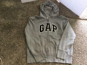 Vintage GAP Full Zip Up Hooded Sweatshirt Hoodie Size L
