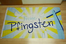 Fahne Flagge Frohe Pfingsten mit Tauben - 90 x 150 cm
