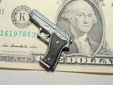 """1/6 scale miniature PLASTIC modern pistol handgun approx. 3/4"""" long"""