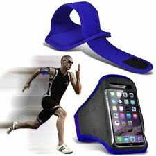 Blue✔Quality Sports Armband Gym Running Workout Belt Strap Phone Case Cover