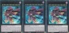 YUGIOH CARD 3 X RAIDRAPTOR - FINAL FORTRESS FALCON -  BLLR-EN015 ULTRA