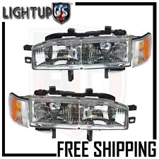 Headlights Headlamps Pair Left right set for 92-93 Honda Accord