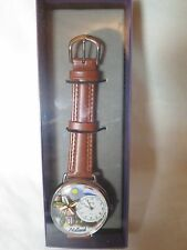 Whimsical Watches Holland Tan Leather And Silvertone Watch U1420007
