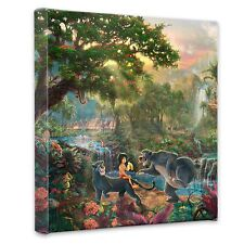 "(New) Thomas Kinkade Disney Dreams Collection ""Jungle Book"" 14 x 14 Wrap"