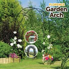 More details for 2m garden arch trellis arched metal tubular frame climbing plant archway arbour