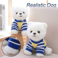 Realistic Simulation Dog Toy Plush Pomeranian Toy Doll Stuffed Animal 1 pcs