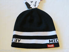 Neff  Mickey Disney Collection unisex mens womens Black White 001 hat cap knit^^