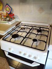 Cucina a gas 60x60 4 fuochi + Forno a gas Bianco Beko CSG 62000 D