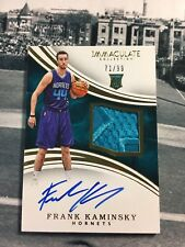 Frank Kaminsky 2015-16 IMMACULATE Game Used 2 COLOR PATCH Rookie Auto /99