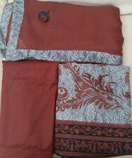 Designer Embridary linen Indian Pakistani unstitched 3 Piece suit