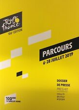 2019 CYCLING TOUR DE FRANCE OFFICIAL PRESSKIT + ROAD MAP 100 YEARS YELLOW JERSEY