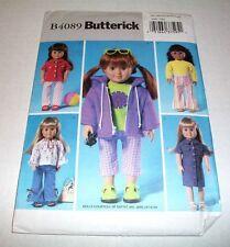 "Butterick Pattern Clothes For 18"" Battat Dolls B4089 Uncut 2003"
