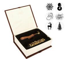 Christmas Tree Santa Wax Seal Sealing Stamps Metal Stamp Set Letter Craft Deer