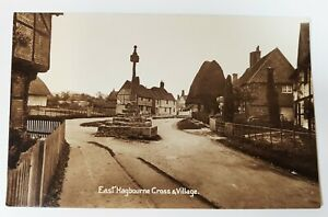 Postcard - East Hagbourne Cross & Village. Real Photo Post Card. Printed in GB