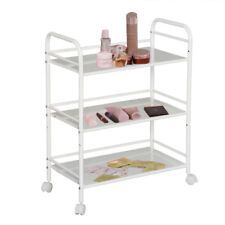 3 SHELF LARGE BEAUTY SALON TROLLEY CART STORAGE DENTIST WAX TATTOO TREATMENT