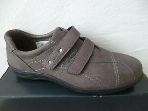 Comfortabel Slipper Halbschuhe Sneakers Wechselfußbett Leder grau NEU!!