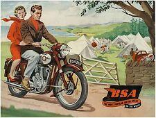 BSA Brochure A10 A7 B34 B33 B32 B31 D1 D3 C10 C11 M20 M21 M33 1954 Catalog REPRO